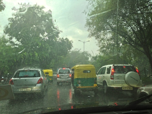 Delhi Monsoon Traffic